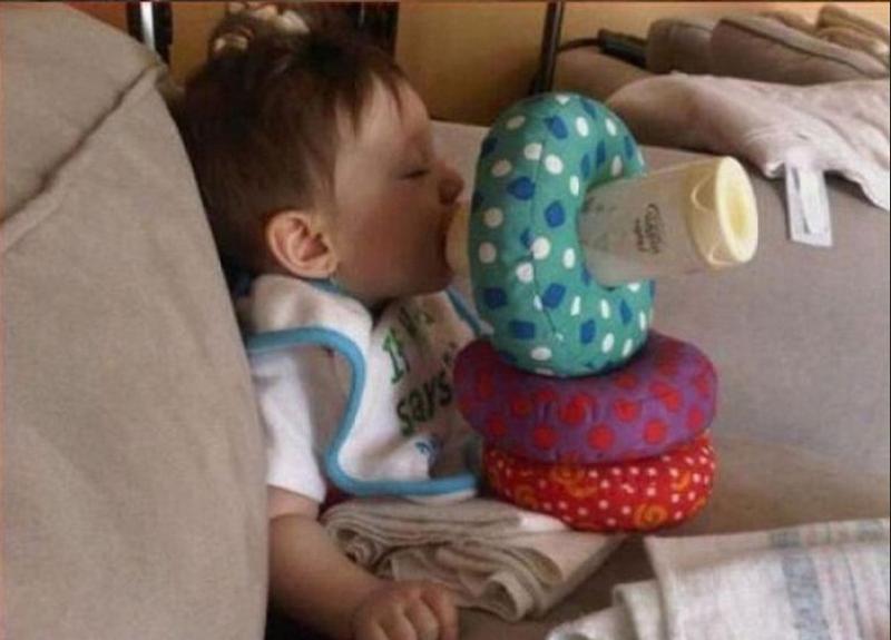 Когда оставила ребенка с папой: 30 забавных фото