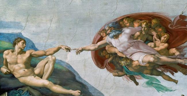 Человеческий мозг на картине Микеланджело