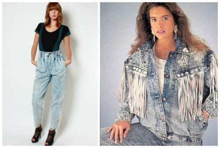 мраморные джинсы